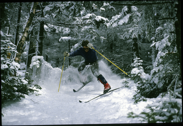 Dickie Hall in some tight places in the 1980s - the Telemark Guru & Evangelist