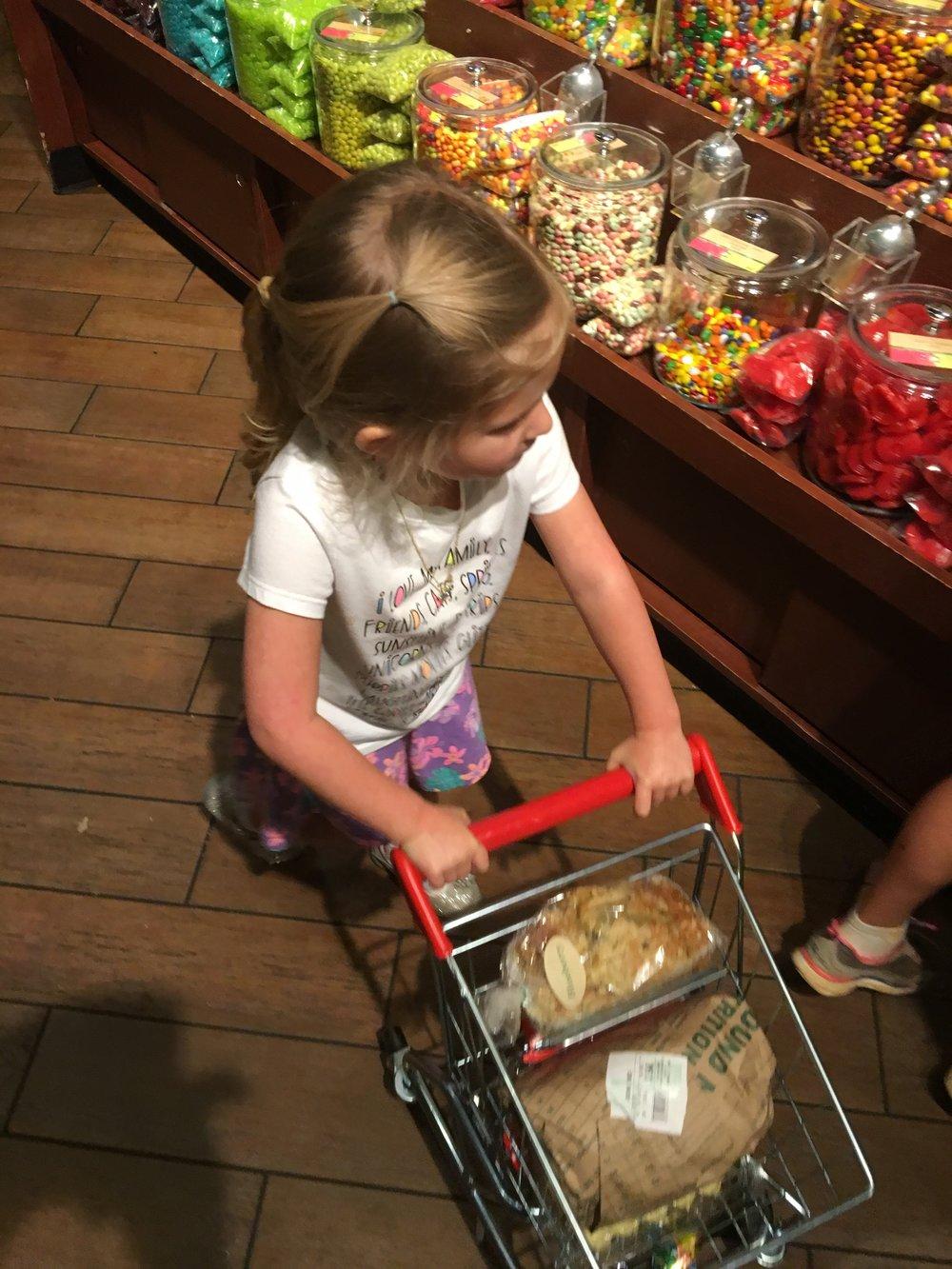 Gracie shopping with Gigi