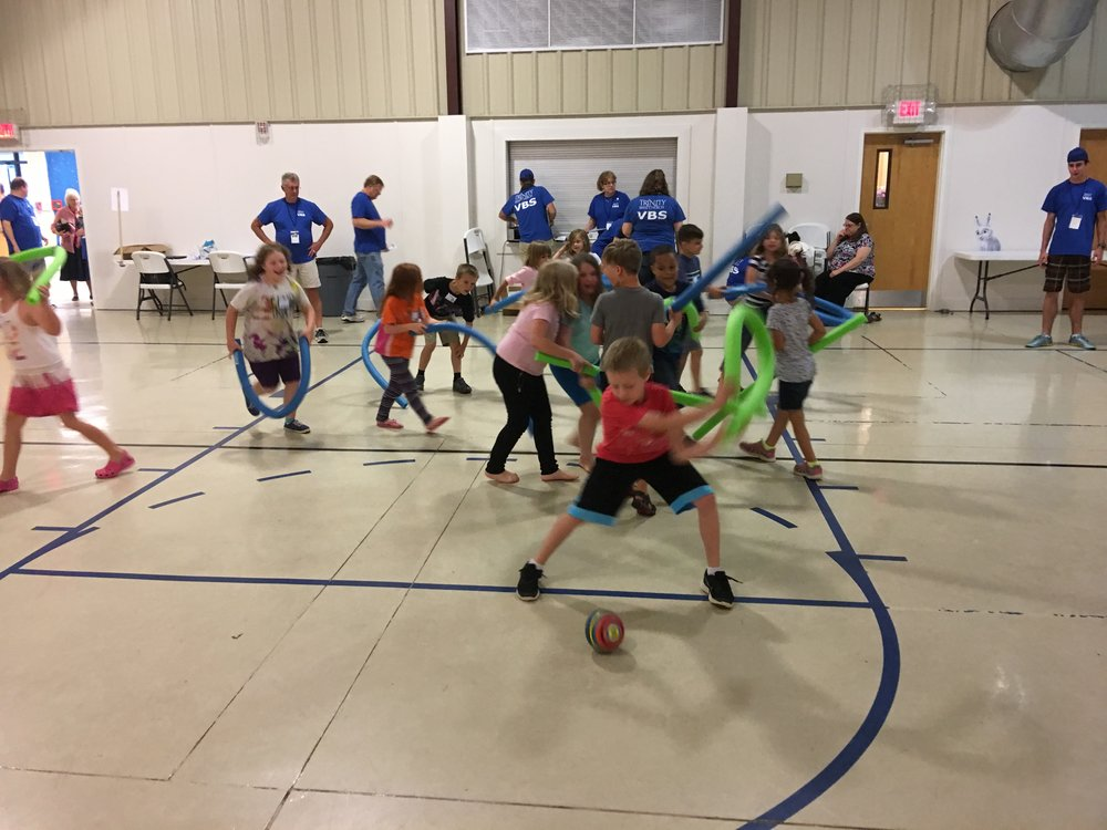 Leading games at VBS