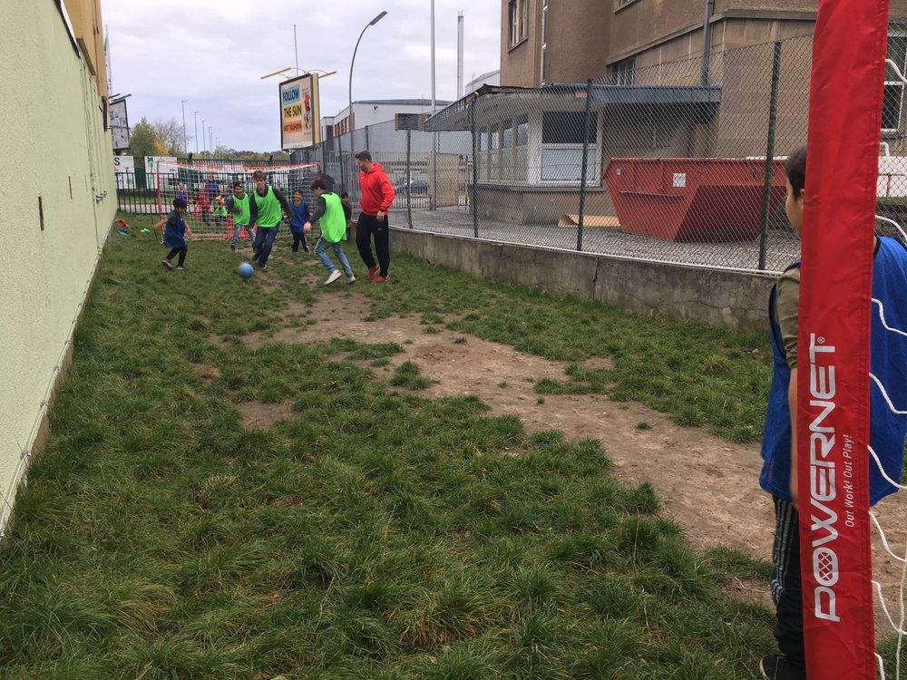 Soccer in camp