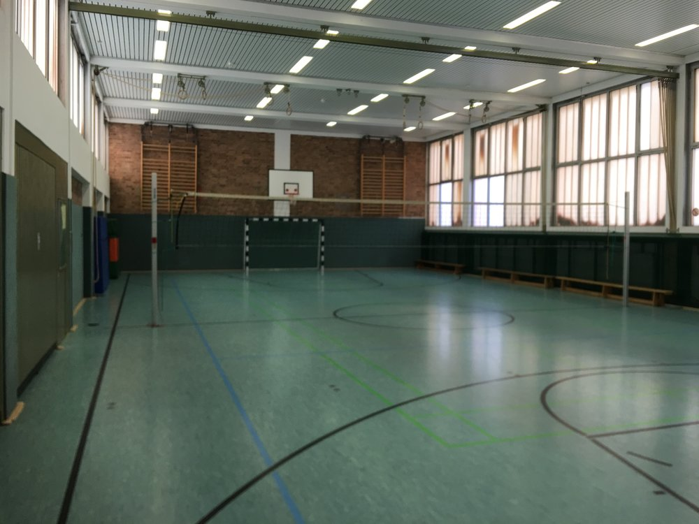 Gym near our refugee outreach in Stieglitz