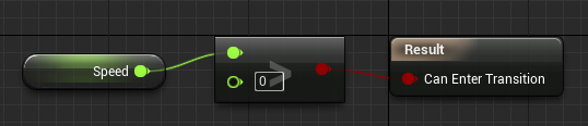 Here is an example rule from UE4