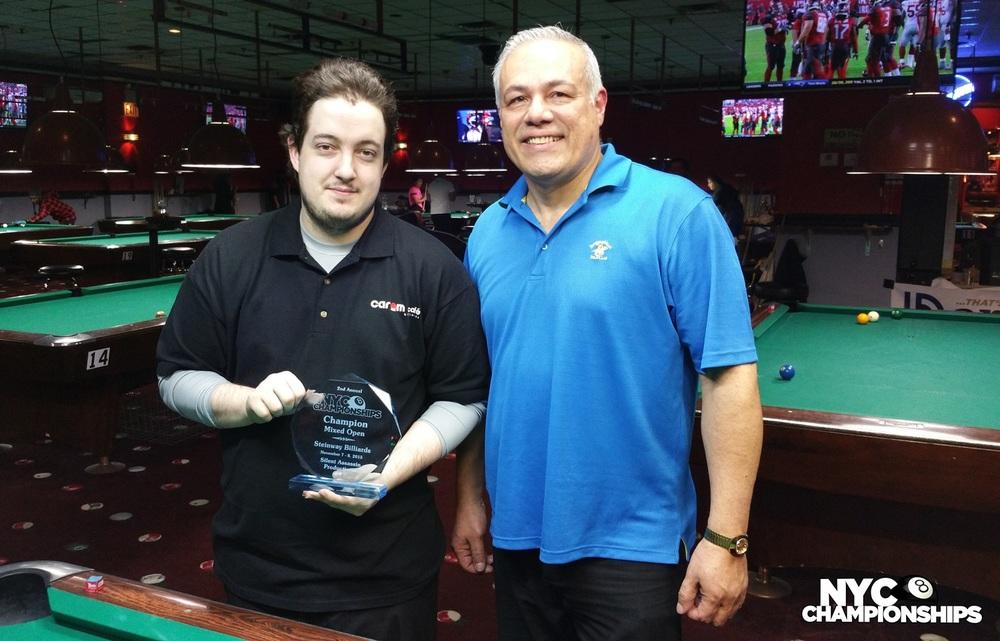 Mixed Open: Champion Tommy Schreiber &Runner Up Cristobal Tiru