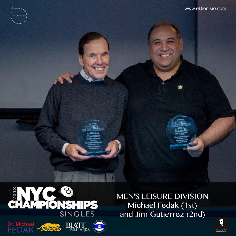 Men's Leisure L-R 1st Rolando Rodriguez 2nd Carmine Andujar