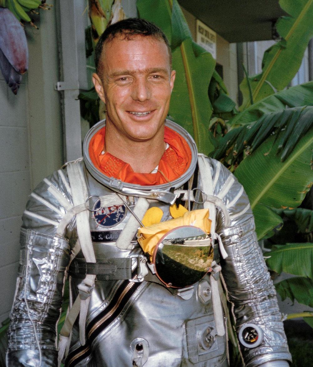 Astronaut M. Scott Carpenter wearing a Mercury pressure suit during astronaut training at Cape Canaveral, Florida. Image Credit: NASA