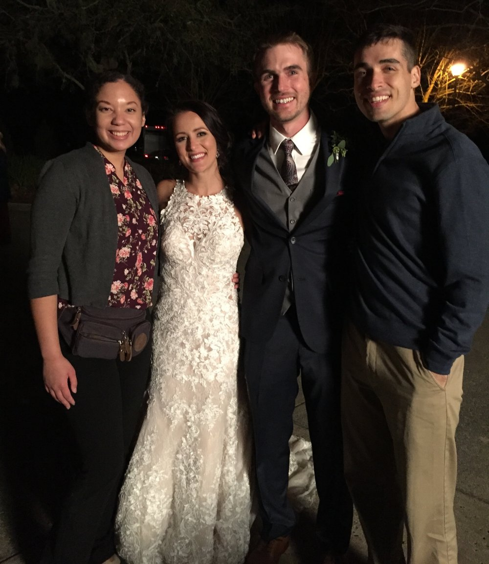 iPhone photo of Jacob and I with the awesome couple, Allison and Alex!