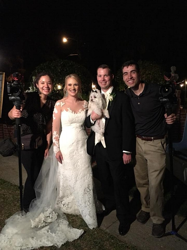 iPhone photo of Jacob and I with the newlywed couple, Lindsey & Patrick (and their pup, Tucker)!