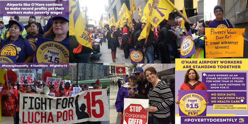Chicago JwJ Solidarity with Airport Workers organizing with SEIU Local 1!