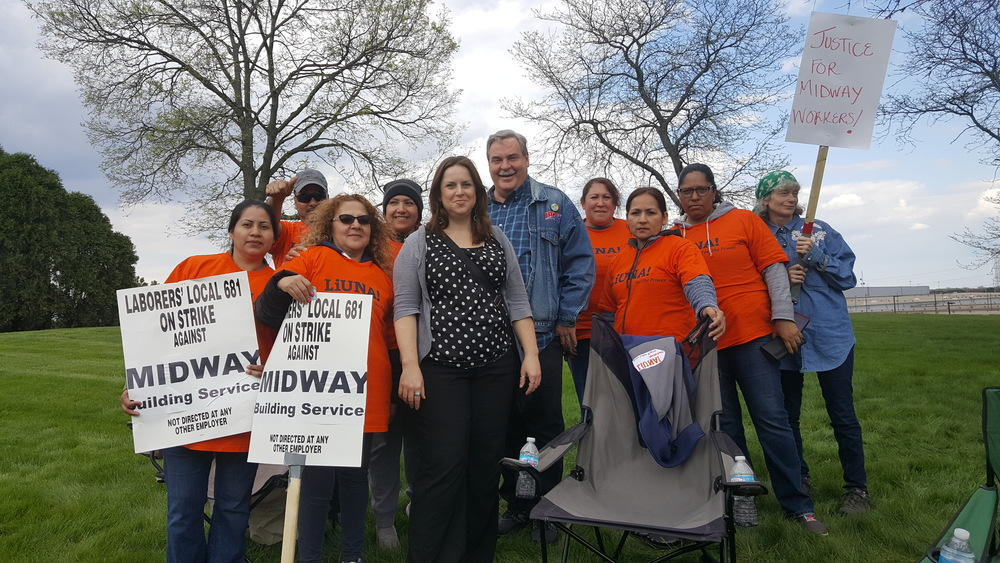 Solidarity with Laborers Local 681 Members 1-Day Strike at UPS & Midway Building Services!