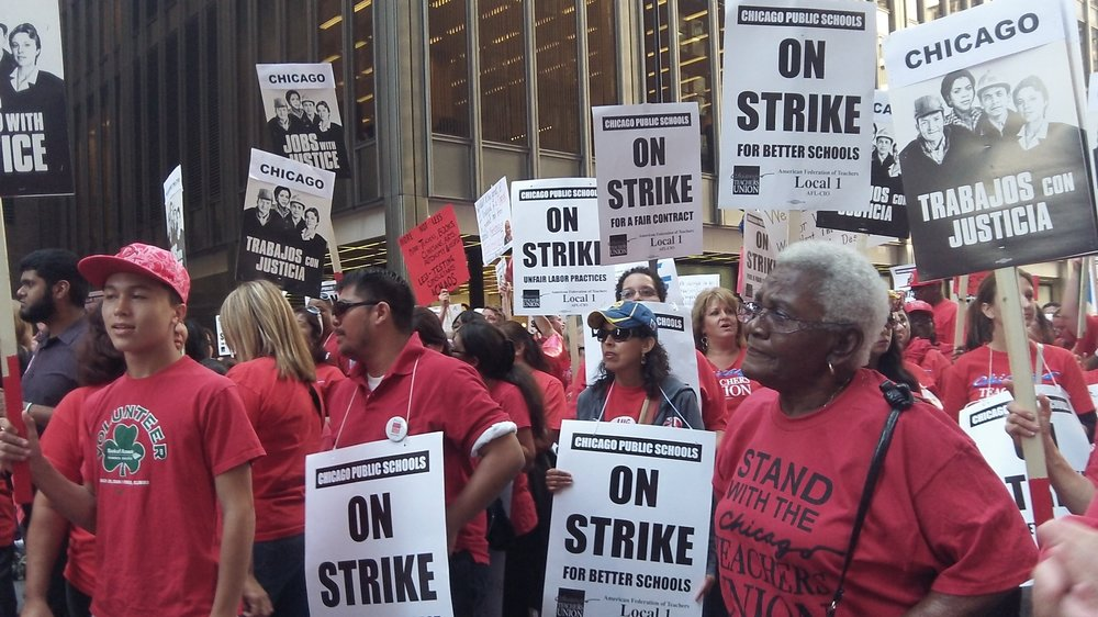 Solidarity during the historic Chicago Teachers Union strike in 2012.