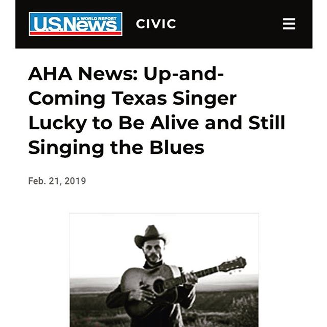 ain't that the truth. @usnews showin' love to a south Texas blues boy. I do feel lucky to be alive. You should see the dreams I've been havin'. story link in bio.  Photo @lyzarenee00