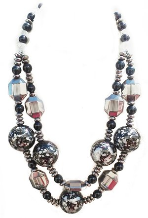 set neckace necklace turkish sterling bronze topaz jewellery white blackonyx silver handmade and