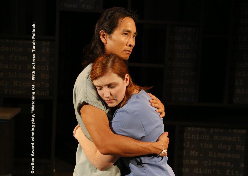 """Ovation Award-winning play, """"Watching OJ"""". With actress Tarah Pollock."""