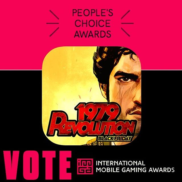Liked playing #1979TheGame? WE NEED YOUR VOTE to win People's Choice Award @imgawards !  LINK IN BIO --  🙏🏽 👊🏼 🏆 *** #IMGA #indie #awards #MobileGame #TuesdayThoughts