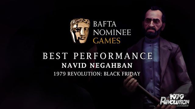 What a wild ride. We are all ecstatic to receive this humbling recognition for 1979 Revolution: Black Friday today. This #BAFTA nomination is deeply special in a million ways but mostly because it is a celebration of @navidnegahban work with us. He is a world class talented actor who has been onboard from the very beginning, he never flinched at our unorthodox idea, ambitious mo-cap shooting schedule, reshoot days, seemingly endless VO sessions-- always supportive, genuine, generous and overflowing with talent. Beyond his performance, Navid Negahban courageously battled his own ghosts by shooting 1979, recalling his own first hand experience as a young teenager on the streets of Tehran, reliving the horrors, euphoria, social unraveling and hardships that he encountered during the revolution. Navid Negahban breathed life into Hajj and 1979 Revolution: Black Friday. Congrats and we love you!