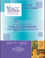 "Statewide Cultural Competence ""Learning Your Needs"" Assessment Supplemental Report 2008"