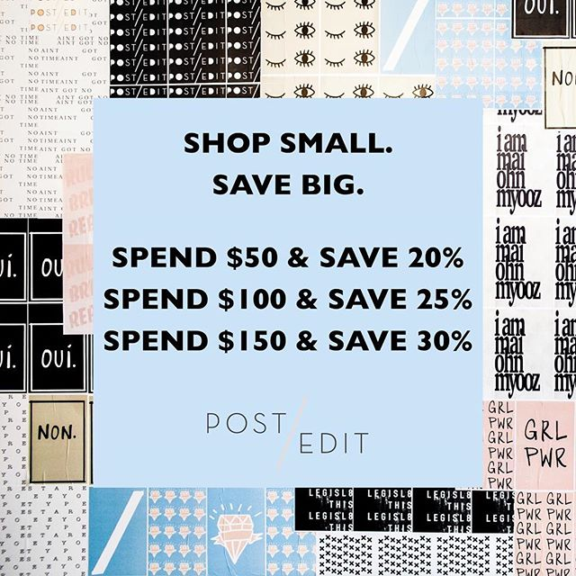 We hope you guys are excited as us! This weekend only get ready to shop small and save big 🤗