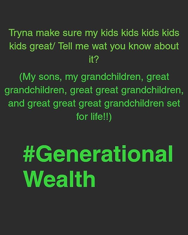 Early morning thoughts Daily thoughts So much more to life than living paycheck to paycheck or hustlin and constantly lookin over your shoulder Happiness and obtaining money shouldnt always be separate...You CAN BUILD GENERATIONAL WEALTH DOING WHAT YOU LOVE...IF ANY HUMAN DID IT BEFORE...SO CAN YOU!! #notetoself #focus #happiness #goals #dreams #dreambig #money #generationalwealth #peace #health #riches #wealth #LOVE #itsmoneyman