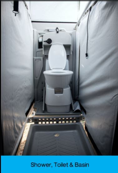The Kavango Xtreme is the same as the standard Kavango but has the addition of a Dometic Caravan Cassette Toilet