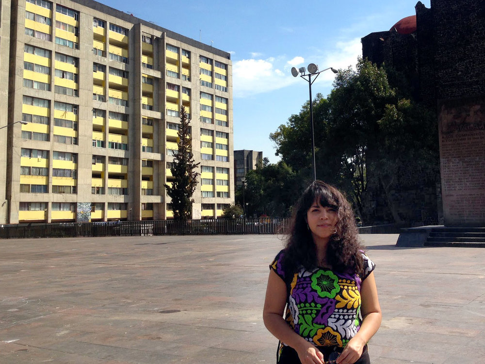 Mariana at the  Nonoalco-Tlatelolco housing project  ,  Mexico City