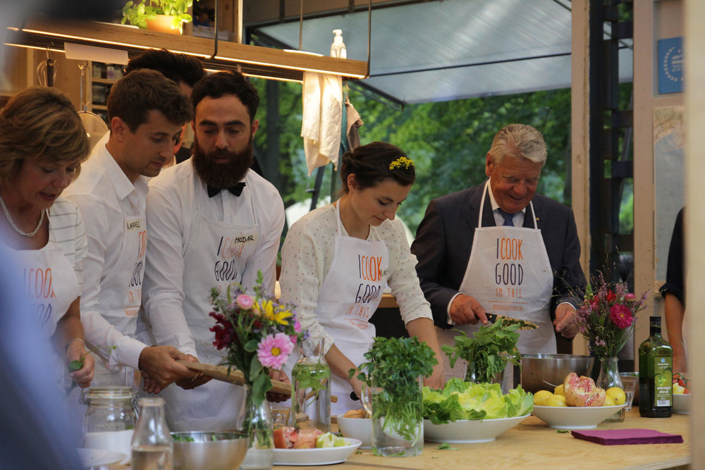 Cooking with the President of Germany © Bundespräsidialamt