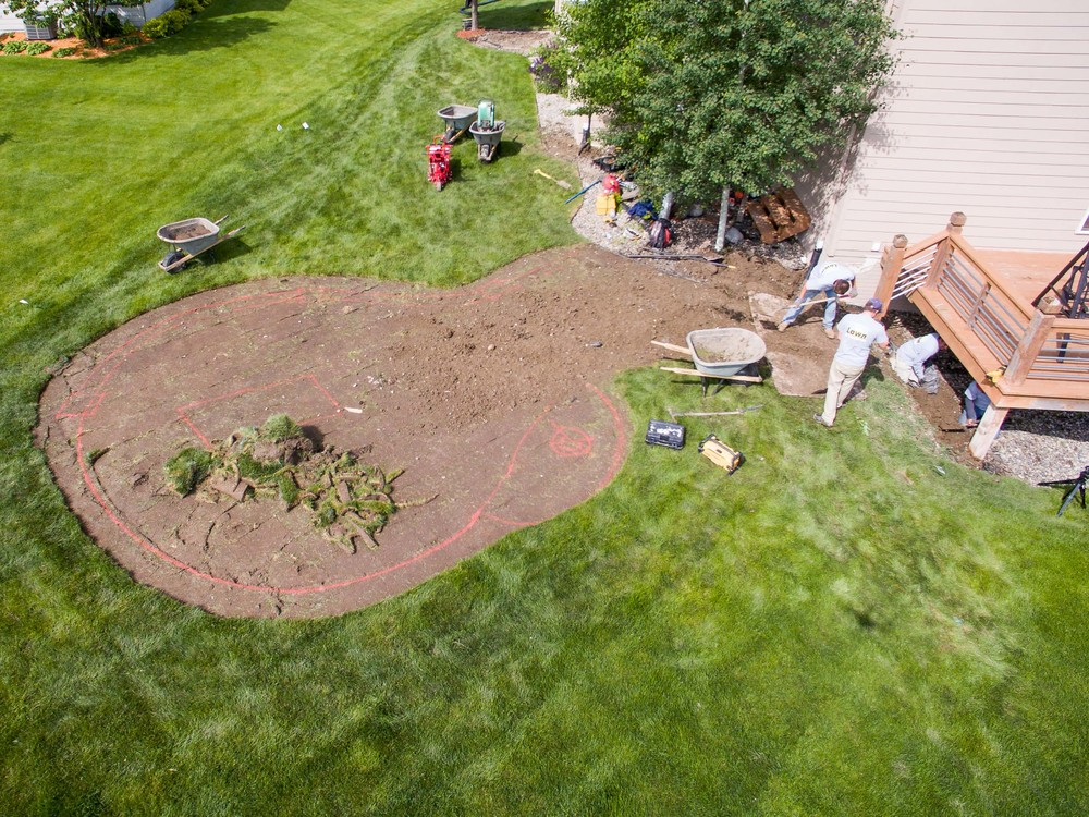 Don Martin Outdoor Patio Landscape Project 2016 (H&H Lawn and La