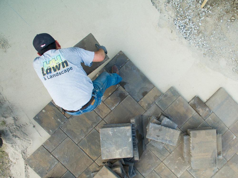 Dan Martin Outdoor Patio Landscape Project 2016 (H&H Lawn and La