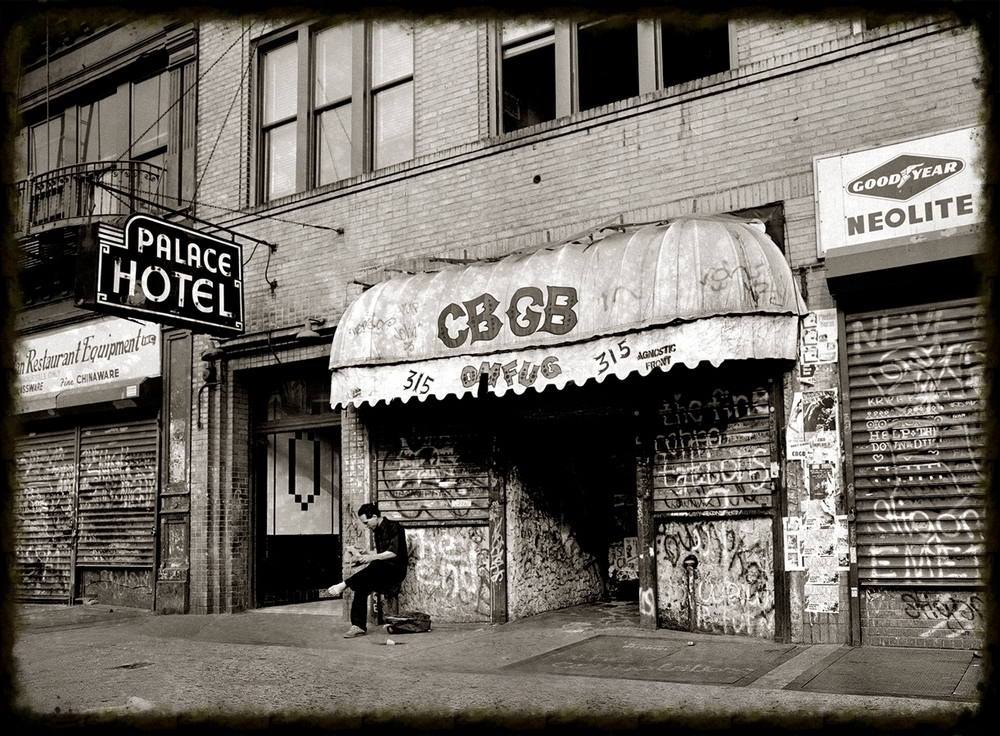 Above: CBGB's on the Bowery was big part of the inspiration behind The East Village