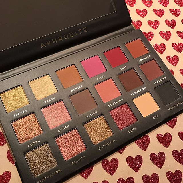 Already counting down to #valentinesday. How cute is the Aphrodite Palette from @badhabitbeauty?