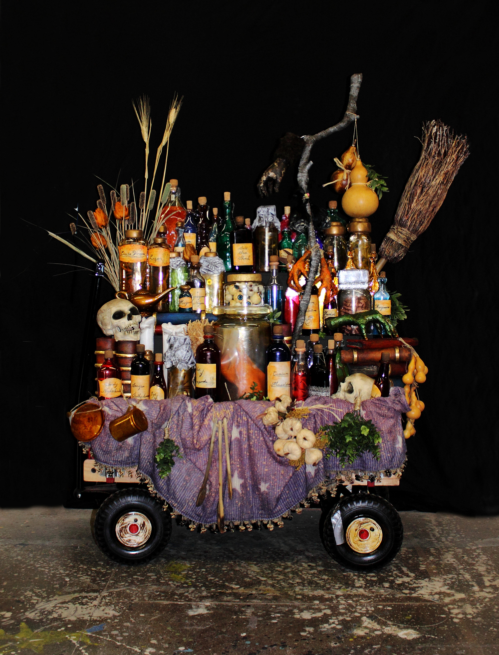 Addams Family Grandma's Potion Cart