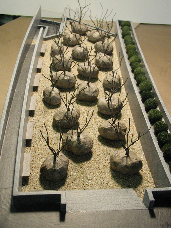 Gardens of Stone Model for Andy Goldsworthy