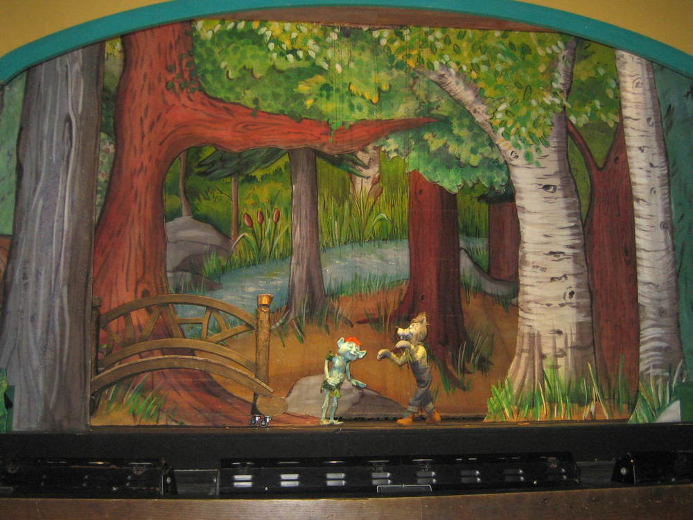 Wolf + Troll Backdrop, Marionette Theater, Central Park