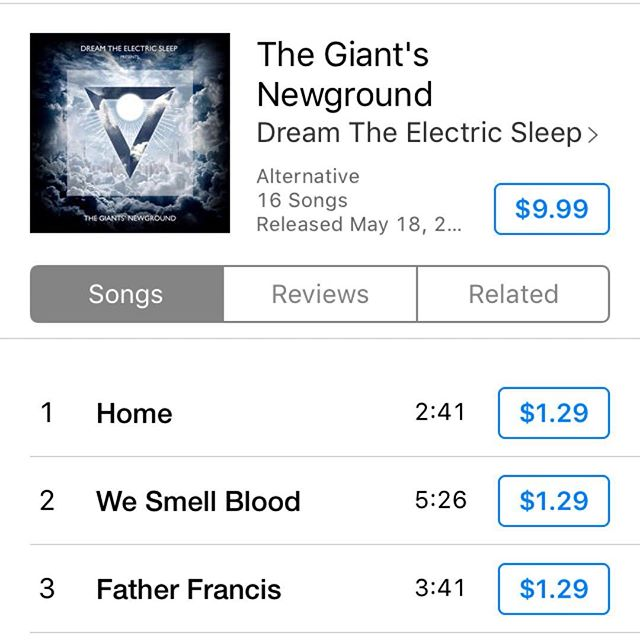 It's release day! You can download The Giants' Newground today. Link in bio 📲🎧