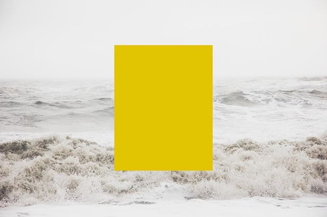 Sun & Sea // there's nothing like neutral colours with a pop of colour, especially when that colour is a gorgeous mustard yellow // #sea #waves #colour #yellow #block #tone #design #studio #simple #minimalism #create #collectivelycreate #graphicdesign #instagood #photooftheday
