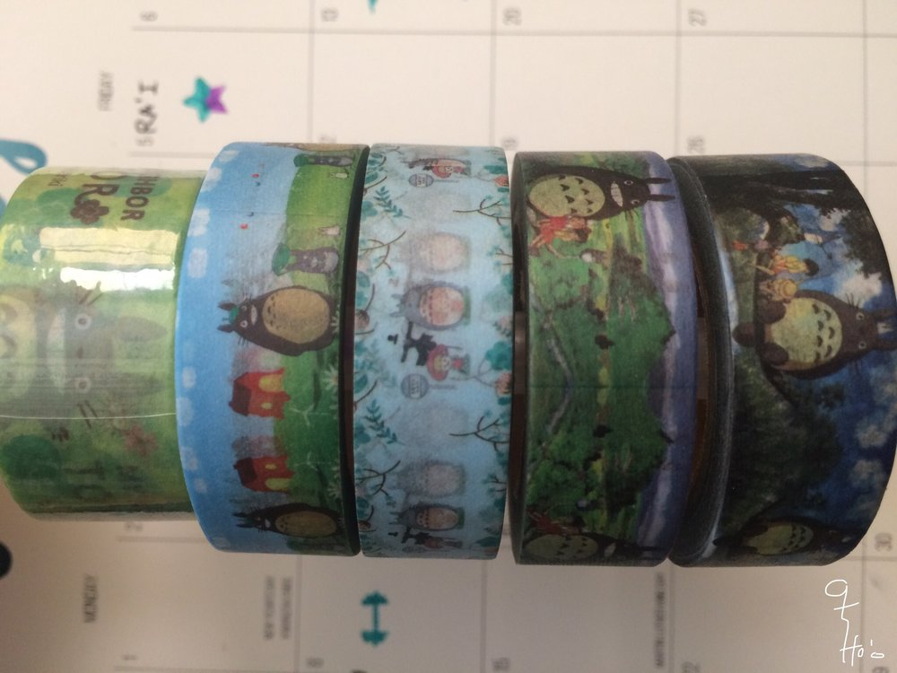 Personal washi-tape collection. And yes it's Totoro.