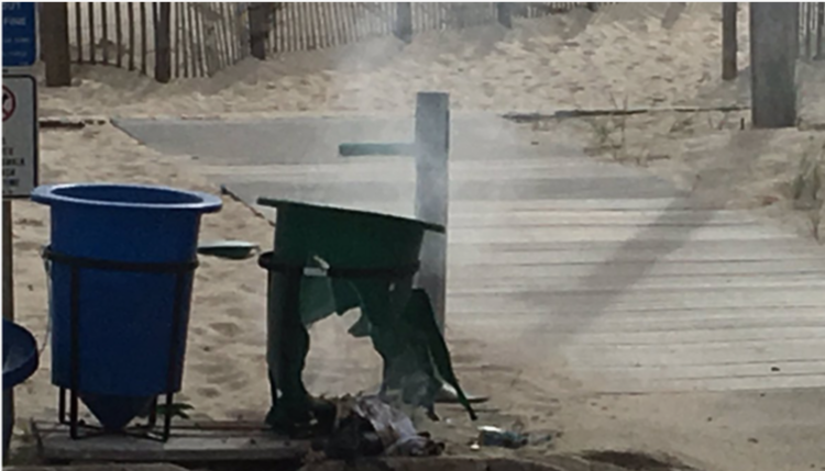 Seaside Heights, NJ. pipe bomb attack - failed