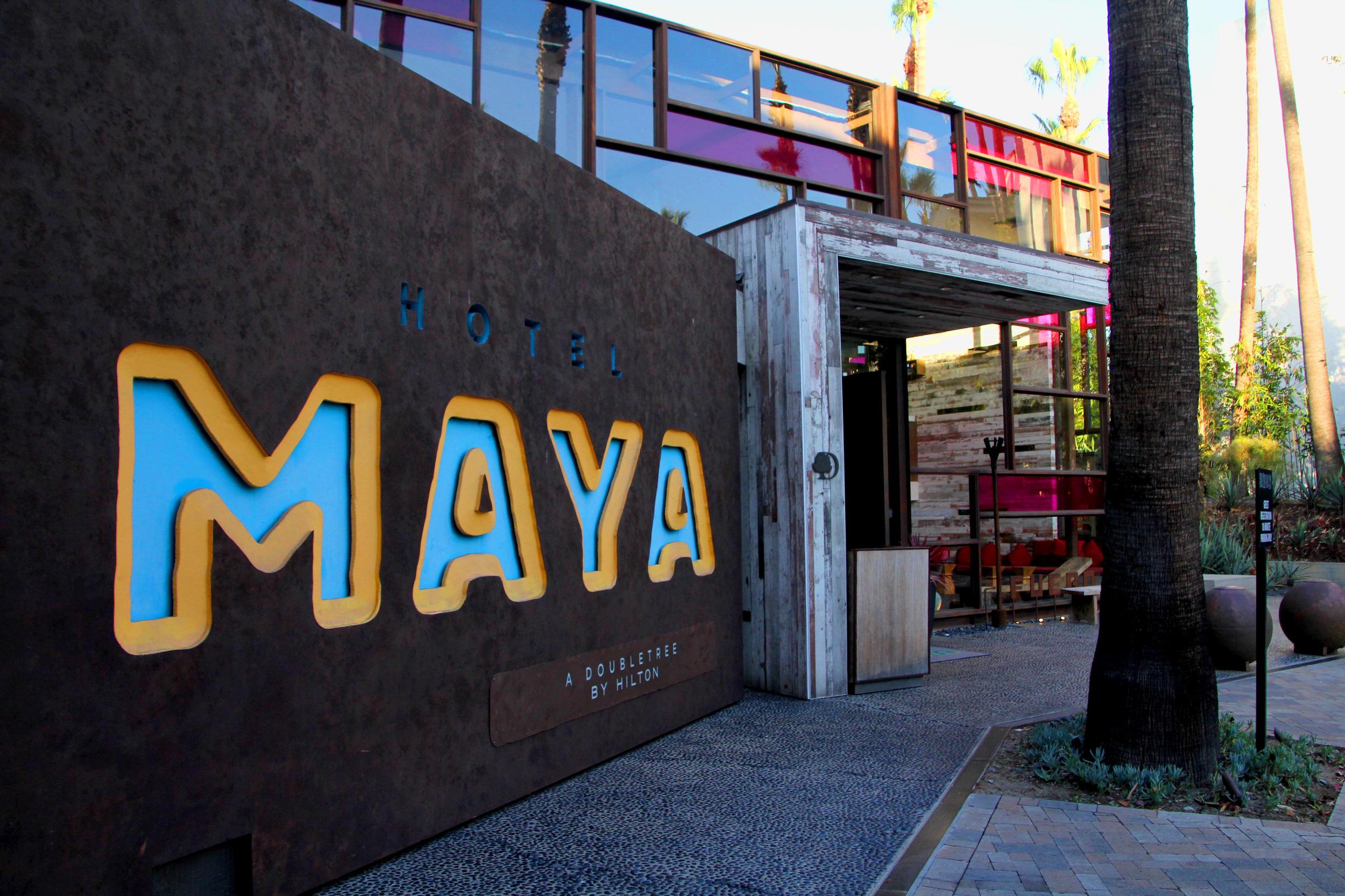 Hotel Maya front sign