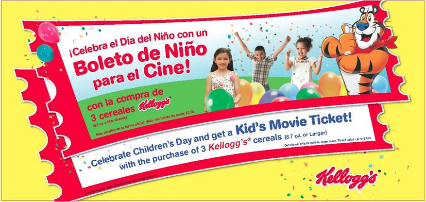 Kids Movie Ticket Kellogg's