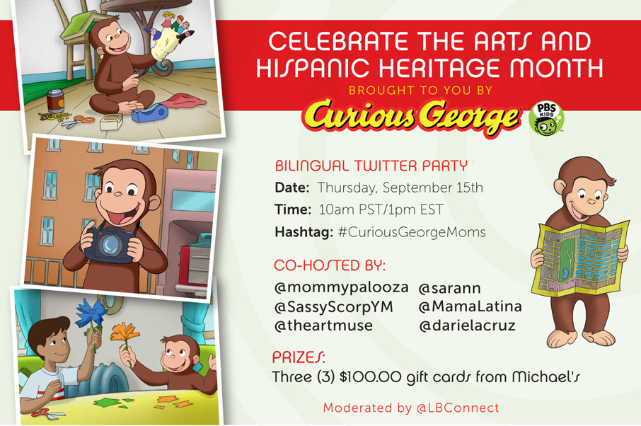 Curious George art pbs kids twitter party