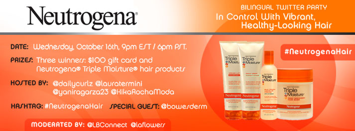 Neutrogena Triple Hair Moisture Twitter Party Latina Bloggers