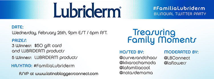 lubriderm #latinabloggers twwitter party