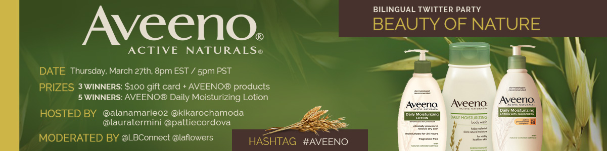 aveeno latinabloggers twitter party