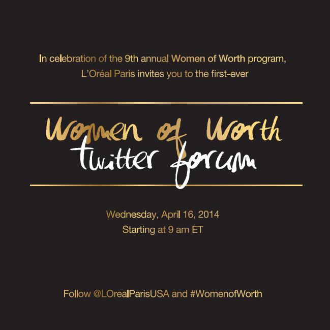 Women of Worth Twitter Forum