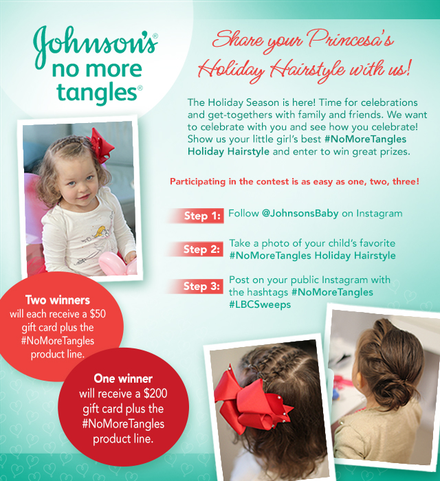 Johnson's No More Tangles Instagram contest
