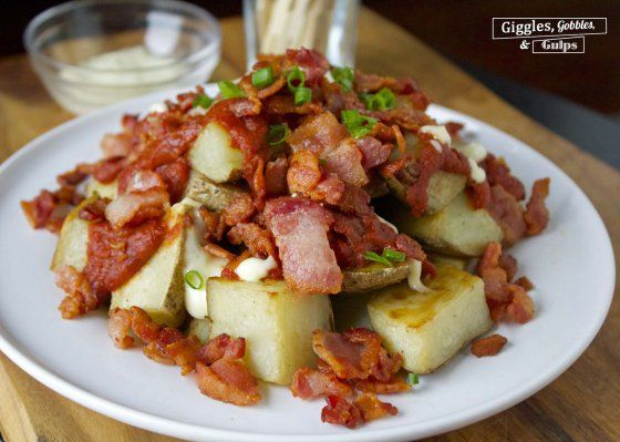 Patatas Bravas Con Tocino | Spicy Potatoes with Bacon