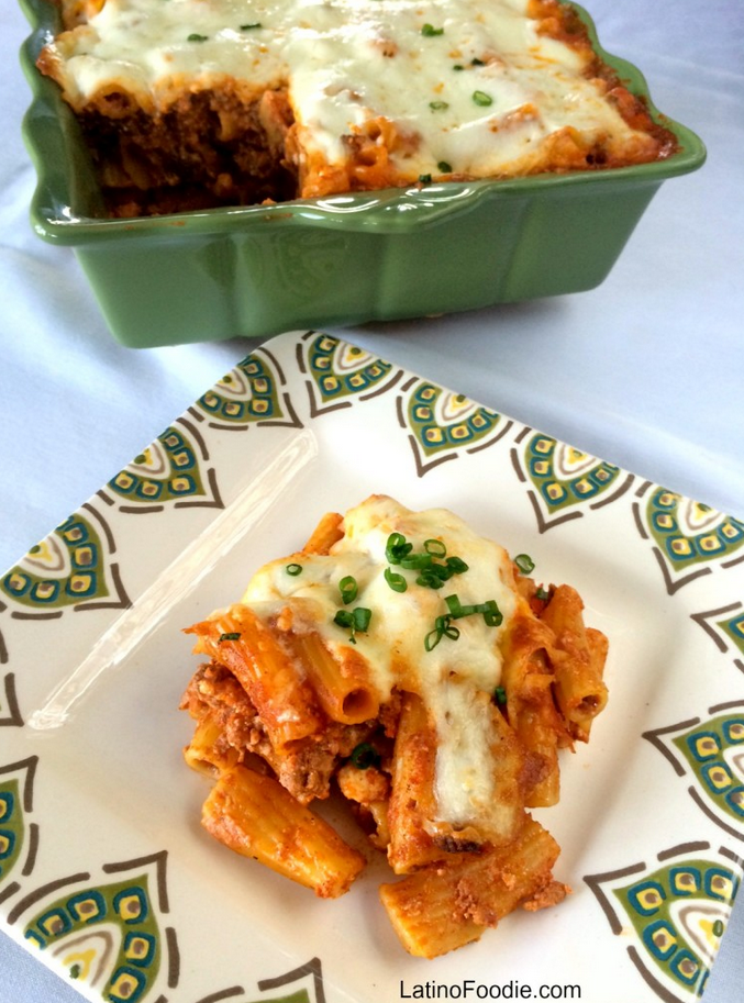 Latino Foodie_ Beef and Chorizo Baked Pasta
