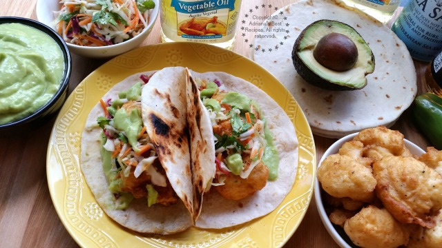 Beer Battered Cauliflower Tacos - #SoyParaSoy