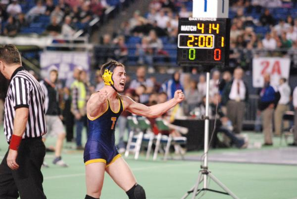 In his first trip to the state tournament, John beat three of the top seeds in the tournament on his way to the state title at 145 pounds. Buban's had to dip into his gas tank as he won the title in double overtime against University's Ryan Zumwalt.