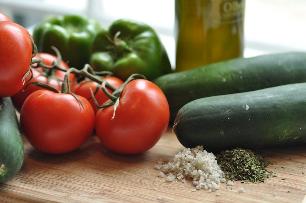 fresh summer veggies