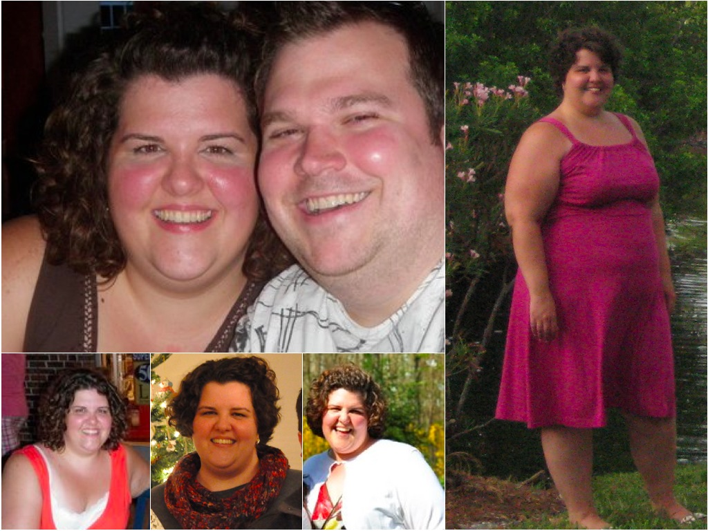 Before losing 100 lbs | Christine at Salt & Twine
